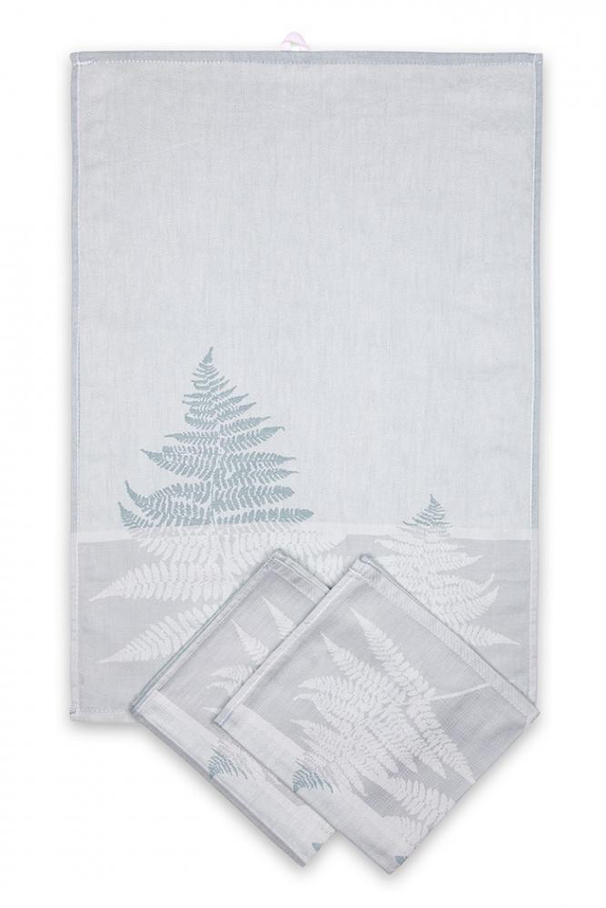 Svitap utěrky egyptská bavlna, žakárově tkaná KAPRADINA 50x70cm 3ks - PASTELOVÁ