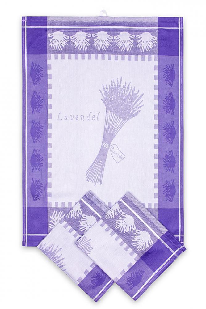 Svitap utěrky egyptská bavlna, žakárově tkaná LEVANDULE SNOP 50x70cm 3ks - LILA
