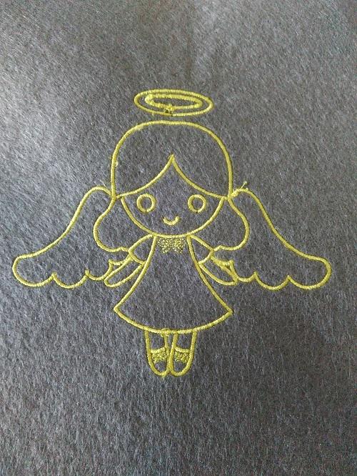 Výšivka ANGEL 11x12cm