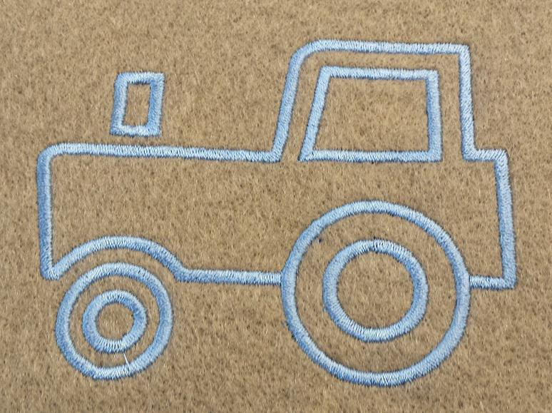 Výšivka traktor 10,5x7,5cm