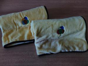 Deka z mikroflanelu a bavlny 70x90cm s výšivkou BALÓNKY 1