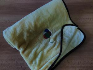 Deka z mikroflanelu a bavlny 70x90cm s výšivkou BALÓNKY 2