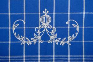 Svitap Utěrky Negativ s cibulákovým vzorem modré s bílou výšivkou 50x70 cm 3ks