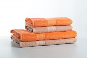 """Náhled Osuška bambus """"bamboolive"""" oranžová 70x140 cm"""