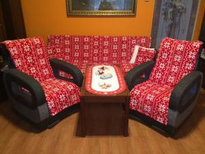 Náhled Vánoční přehozy na sedací soupravu SLEEP WELL® mikrovlákno tisk