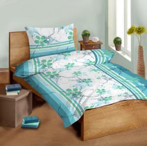 Náhled Saténové povlečení SLEEP WELL® 70x90 cm + 140x200 cm  - DAISY