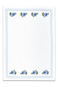 Náhled Svitap bavlněné utěrky SLEEP WELL® for HOME 50x70cm 3ks - RŮŽIČKY MODRÉ