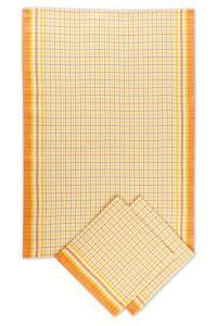 Náhled Svitap utěrky bambusové  Malá kostka oranžová - 3ks 50x70 cm