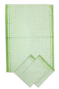 Náhled Svitap utěrky bambusové Malá kostka zelená - 3ks 50x70 cm