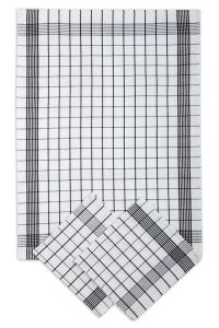 Náhled Svitap Utěrky bavlněné - Pozitiv bílo - černá 50x70 cm 3ks