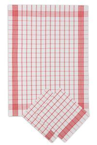 Náhled Svitap Utěrky bavlněné - Pozitiv bílo - červená 50x70 cm 3ks