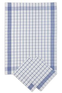 Náhled Svitap Utěrky bavlněné - Pozitiv bílo - modrá 50x70 cm 3ks