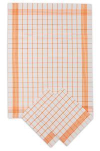 Náhled Svitap Utěrky bavlněné - Pozitiv bílo - oranžová 50x70 cm 3ks