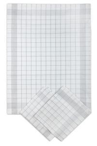 Náhled Svitap Utěrky bavlněné - Pozitiv bílo - šedá 50x70 cm 3ks