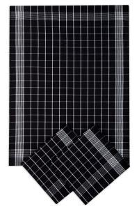 Náhled Svitap Utěrky bavlněné - Negativ  černo - bílá 50x70 cm 3ks