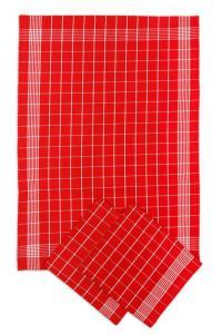 Náhled Svitap Utěrky bavlněné - Negativ červeno - bílá 50x70 cm 3ks