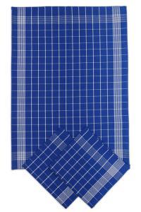 Náhled Svitap Utěrky bavlněné - Negativ modro - bílá 50x70 cm 3ks