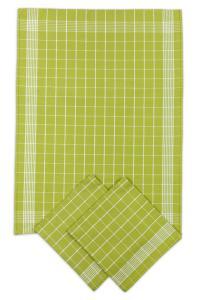 Náhled Svitap Utěrky bavlněné - Negativ zeleno - bílá 50x70 cm 3ks