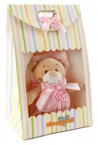 Náhled Dárkový set pro nejmenší SLEEP WELL® - MEDVÍDEK RŮŽOVÝ (deka+hračka)