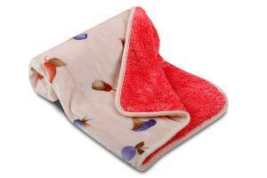 Náhled Dětská deka OVEČKA® 100x140 cm - LESNÍ PLODY s čokoládovým plyšem