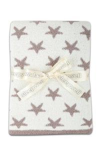 Náhled Luxusní dětská deka z mikrovlákna SLEEP WELL  75x100cm MĚSÍČNÍ TŘPYT - ČOKOLÁDA