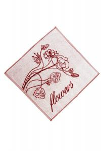 Náhled Froté utěrka/ručník - FLOWERS  50x50 cm