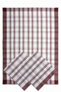 Náhled Svitap utěrky z egyptské bavlny 50x70cm 3ks TRADIČNÍ KÁRO TMAVĚ HNĚDÁ