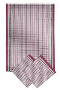 Náhled Svitap utěrky bambusové Malá kostka bordó - 3ks 50x70 cm