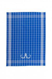 Náhled Svitap Utěrky Negativ s cibulákovým vzorem modré s bílou výšivkou 50x70 cm 3ks