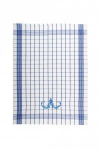 Náhled Svitap Utěrky Pozitiv s cibulákovým vzorem  bílé s modrou výšivkou 50x70 cm 3ks