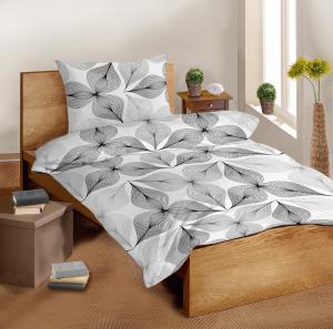 Náhled Saténové povlečení SLEEP WELL® 70x90 cm + 140x200 cm - SYMBIÓZA ČERNOBÍLÁ