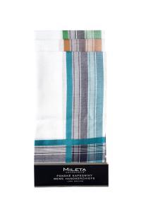 Náhled Mileta kapesníky barevný okraj 40x40cm, 6ks mix
