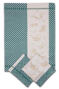 Náhled Svitap utěrky egyptská bavlna ZAHRADA KOSTKA 50x70cm 3ks - ZELENÁ