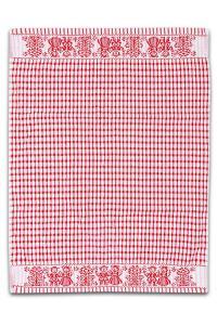 Náhled Froté utěrka / ručník FOLKLOR 50x70 cm - Červená