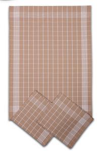 Náhled Svitap Utěrky bavlněné - Negativ béžovo - bílá 50x70 cm 3ks