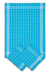 Náhled Svitap Utěrky bavlněné - Negativ tyrkysovo - bílá 50x70 cm 3ks