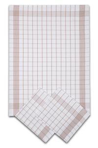 Náhled Svitap Utěrky bavlněné - Pozitiv bílo - béžová 50x70 cm 3ks