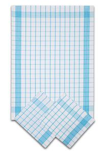 Náhled Svitap Utěrky bavlněné - Pozitiv bílo - tyrkysová 50x70 cm 3ks