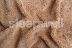 Náhled Prostěradlo z mikroflanelu SLEEP WELL® - 120x200cm - čoko