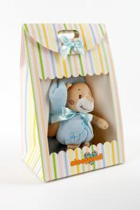 Náhled Dárkový set pro nejmenší SLEEP WELL® - MEDVÍDEK MODRÝ (deka+hračka)