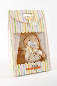 Náhled Dárkový set pro nejmenší SLEEP WELL® - MEDVÍDEK BÉŽOVÝ (deka+hračka)