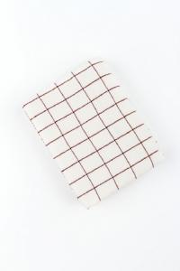Náhled Utěrka z mikrovlákna  63x40cm BÍLO - BORDÓ  2ks
