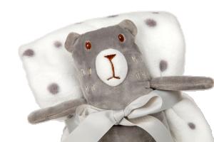 Dárkový set pro nejmenší SLEEP WELL®  - MEDVĚD (deka+medvěd)