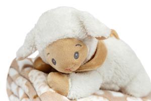 Dárkový set pro nejmenší SLEEP WELL® - OVEČKA (deka+hračka)