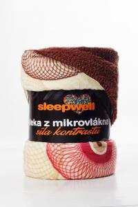 Deka OVEČKA® - Mikroflanel tisk 150x200 cm - BUBLINA VANILKA