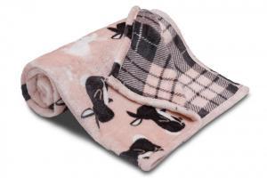 Náhled Dětská deka z mikroflanelu SLEEP WELL 100x150cm ZAJÍC RŮŽOVÁ