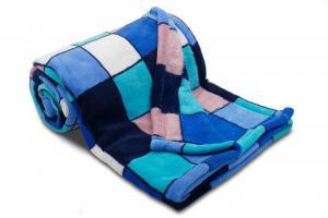 Náhled Dětská deka z mikrovlákna SLEEP WELL® 75 x 100cm - KOSTKA MODRÁ
