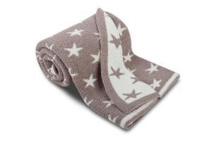 Luxusní dětská deka z mikrovlákna SLEEP WELL  75x100cm MĚSÍČNÍ TŘPYT - ČOKOLÁDA