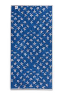 Osuška STARS 100% bavlna SLEEP WELL® - 70x140cm - ŠEDOMODRÁ