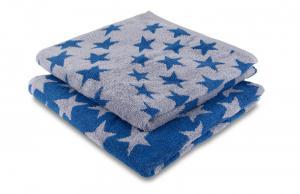 Náhled Osuška STARS 100% bavlna SLEEP WELL® - 70x140cm - ŠEDOMODRÁ
